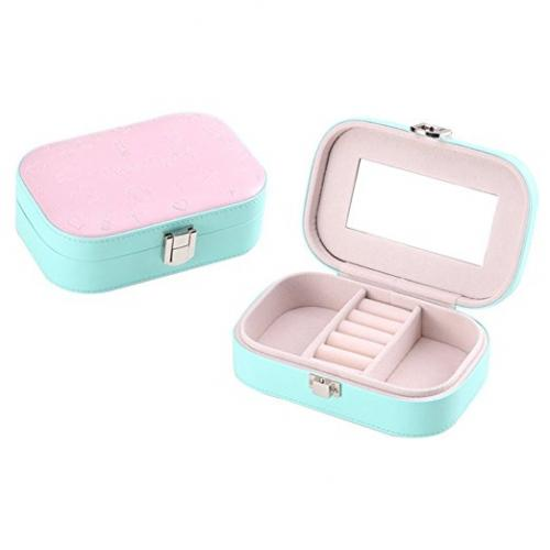 Luscreal Portable Travel Jewelry Lockable Case Jewellery Accessories